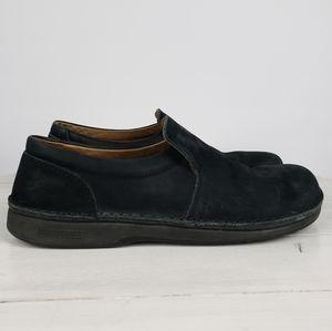Birkenstock slip on loafers nubuck leather clogs